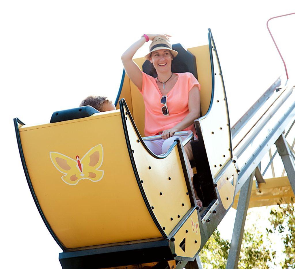 Achterbahn Butterfly im Sonnenlandpark Lichtenau