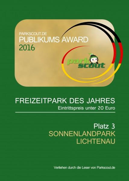 Freizeitpark des Jahres Platz 3