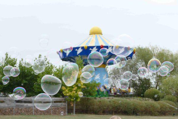 Parkgeburtstag mit Seifenblasen im Sonnenlandpark