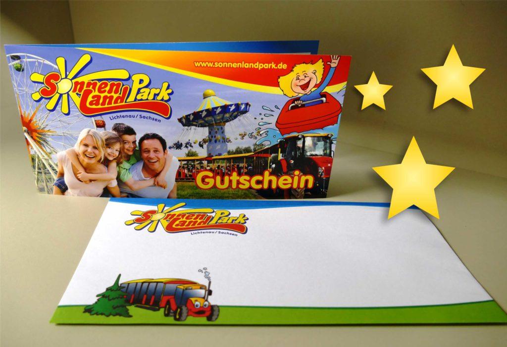 Gutschein für Shopartikel für Weihnachten im Sonnenlandpark