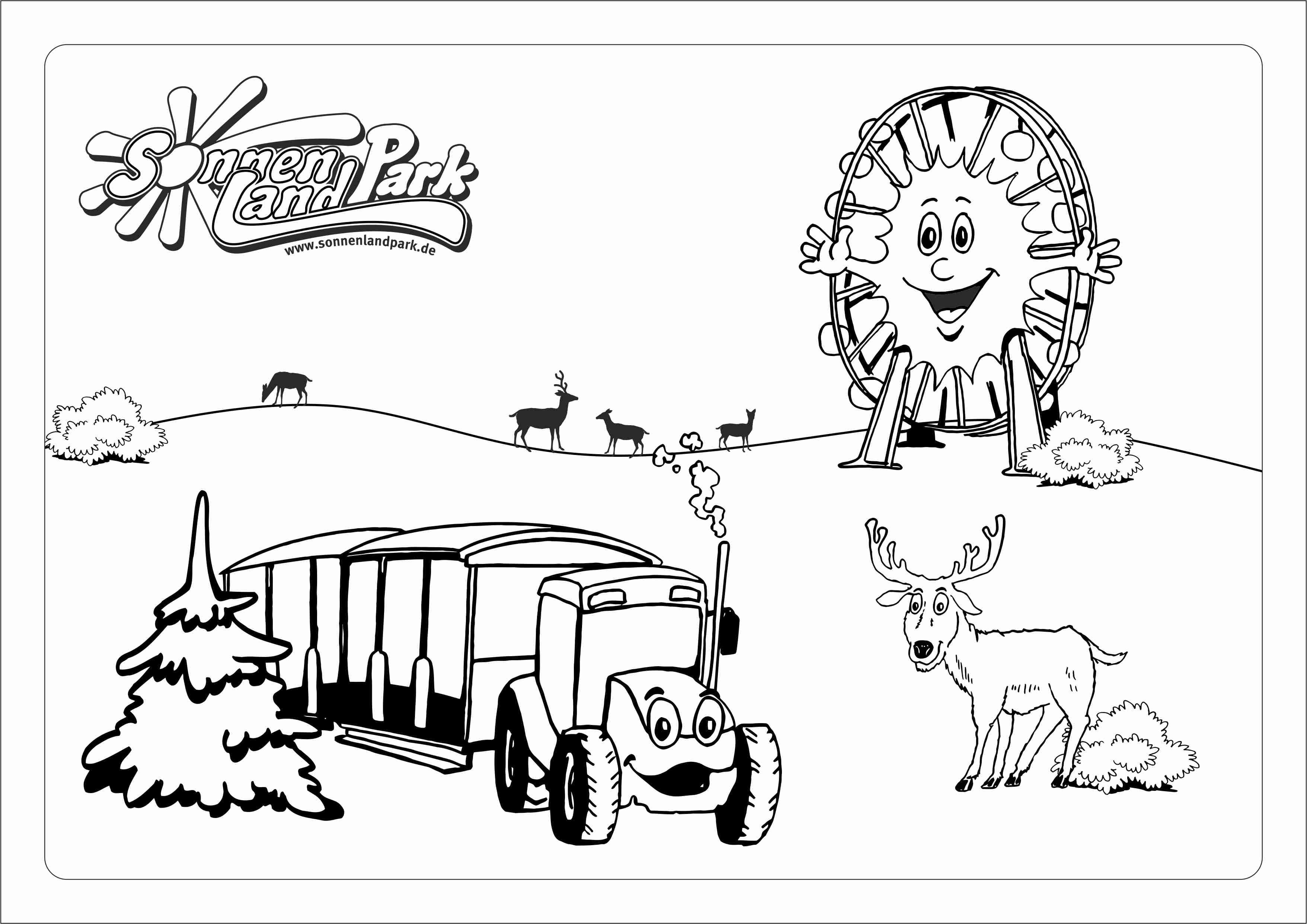 Malbilder und Bastelspaß für Zuhause  Sonnenlandpark Lichtenau